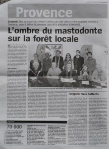 Article de La Marseillaise du 18 déc. 2013