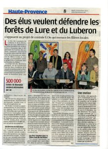 Article de La Provence du 17-dec-2013