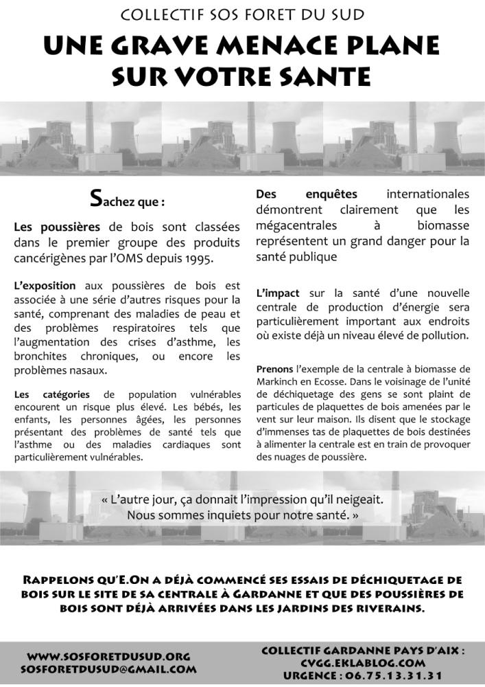 La Menace, tract distribué à Gardanne (1/2)