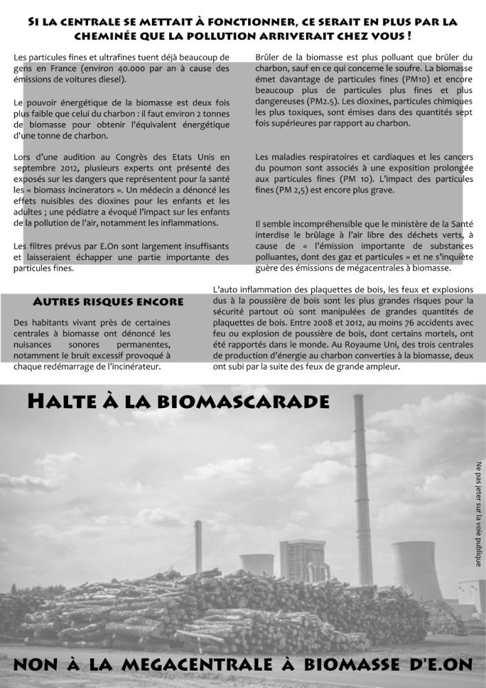 La Menace, tract distribué à Gardanne (2/2)